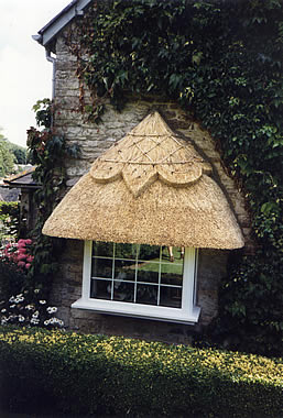 Thatched bay window