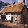 Rethatched cottage in combed wheat reed, Upton Dorset